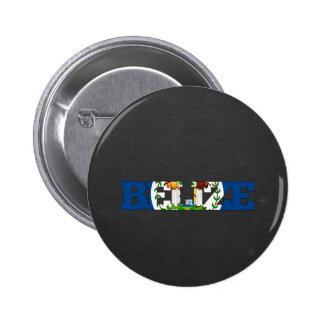 Belize flag font button