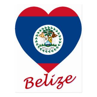 Belize Flag Heart Post Cards