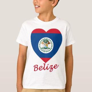 Belize Flag Heart T-Shirt