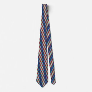 Belize Flag Honeycomb Tie