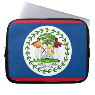 Belize Flag Laptop Sleeve