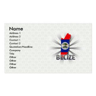 Belize Flag Map 2 0 Business Cards