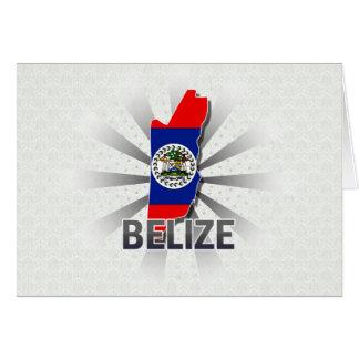 Belize Flag Map 2.0 Greeting Cards