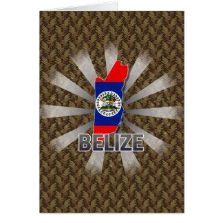 Belize Flag Map 2.0 Greeting Card