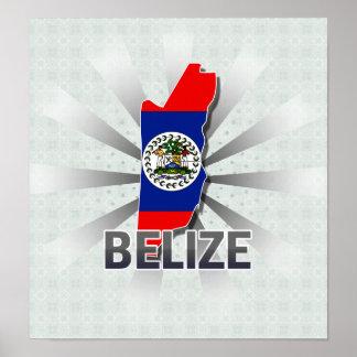 Belize Flag Map 2.0 Print