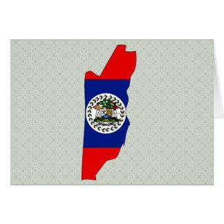 Belize Flag Map full size Cards