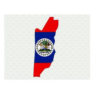 Belize Flag Map full size Post Cards