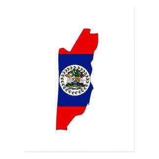 Belize flag map postcard