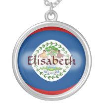Belize Flag   Name Necklace