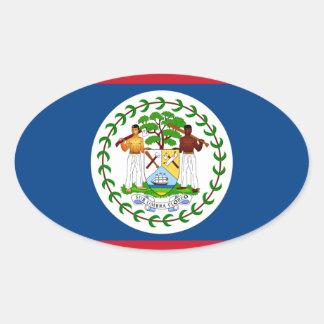 Belize Flag Oval Sticker