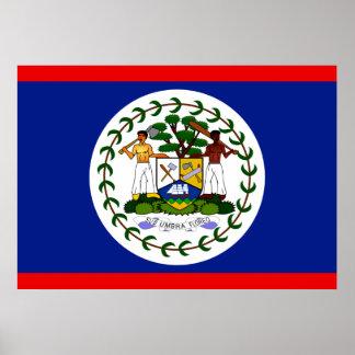 Belize Flag Poster