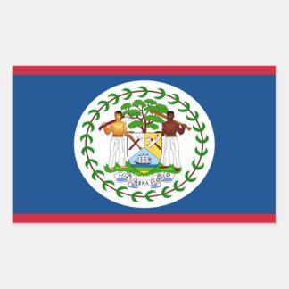 Belize Flag Rectangle Sticker