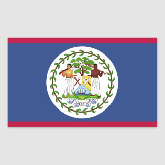 Belize Flag Rectangular Sticker