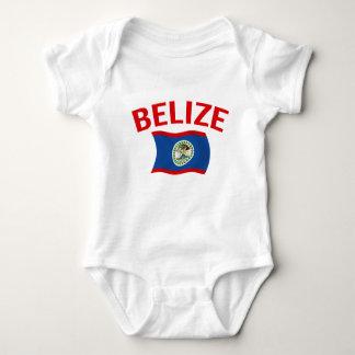 Belize Flag - Red Baby Bodysuit