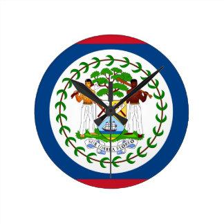 Belize Flag Round Clock