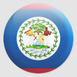 Belize Flag Round Stickers