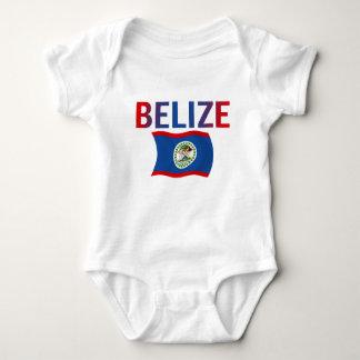 Belize Flag - Tri-Color Baby Bodysuit