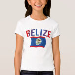Belize Flag - Tri-Color T-Shirt