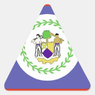 Belize Flag Triangle Sticker