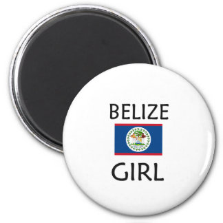 BELIZE GIRL 2 INCH ROUND MAGNET