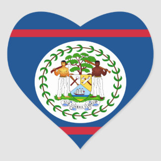 belize heart sticker