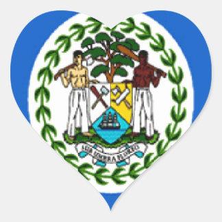 Belize Heart Sticker