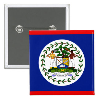 Belize High quality Flag 2 Inch Square Button