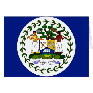 Belize High quality Flag Greeting Card