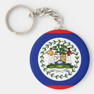 Belize High quality Flag Basic Round Button Keychain