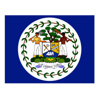 Belize High quality Flag Postcard