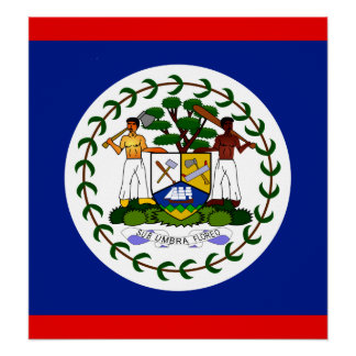 Belize High quality Flag Posters