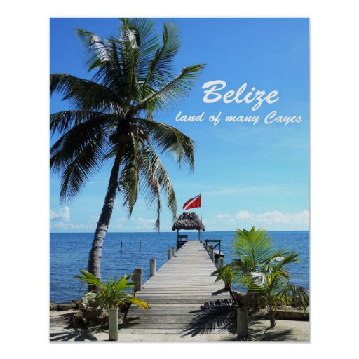 Belize - land of many Cayes Poster