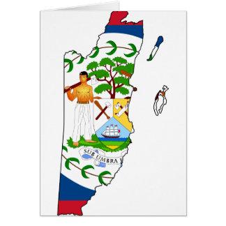 Belize map BZ Card