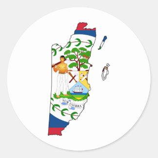 Belize map BZ Classic Round Sticker