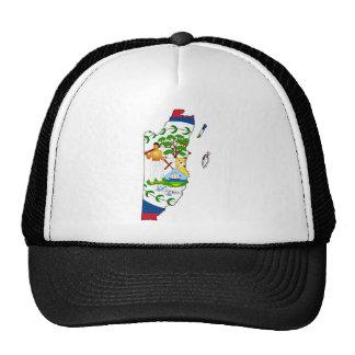 Belize map BZ Trucker Hat