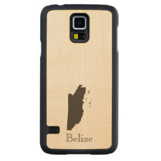 Belize Map Carved® Maple Galaxy S5 Case
