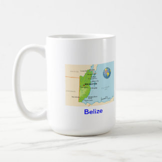 Belize map & flag coffee mug