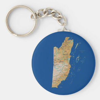 Belize Map Keychain