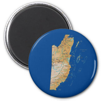 Belize Map Magnet