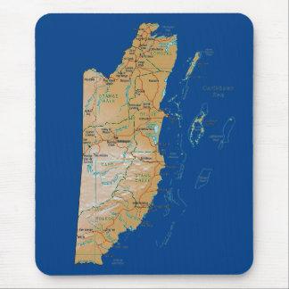 Belize Map Mousepad