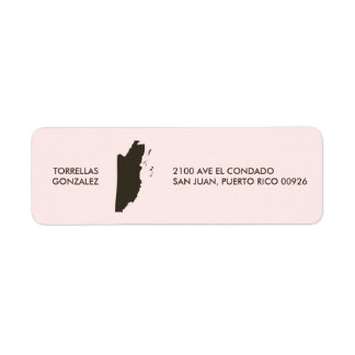 Belize Map: Personalized: Pink Label