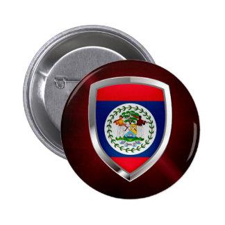 Belize Mettalic Emblem Pinback Button