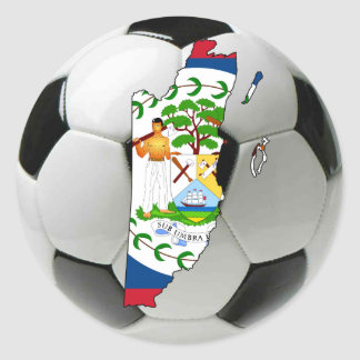Belize national team classic round sticker