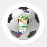 Belize national team round sticker