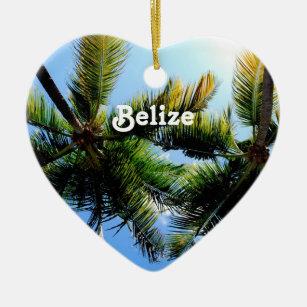 Belize Palm Trees Ceramic Ornament