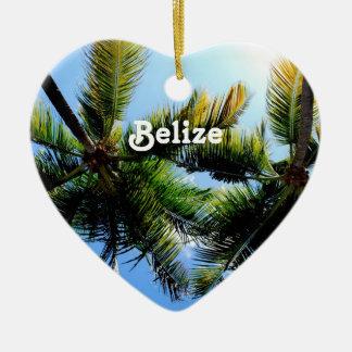 Belize Palm Trees Christmas Ornament