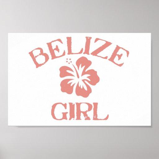 Belize Pink Girl Poster