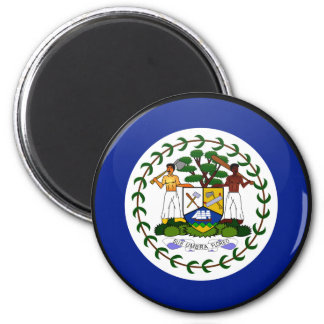 Belize quality Flag Circle 2 Inch Round Magnet