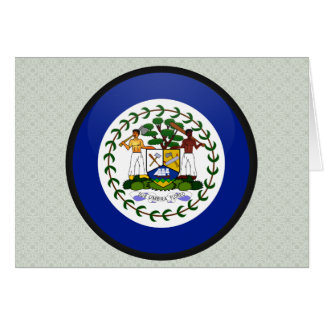 Belize quality Flag Circle Greeting Card