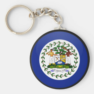 Belize quality Flag Circle Basic Round Button Keychain